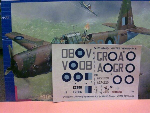 A35 VENGEANCE RAF SEAC 1/72 001