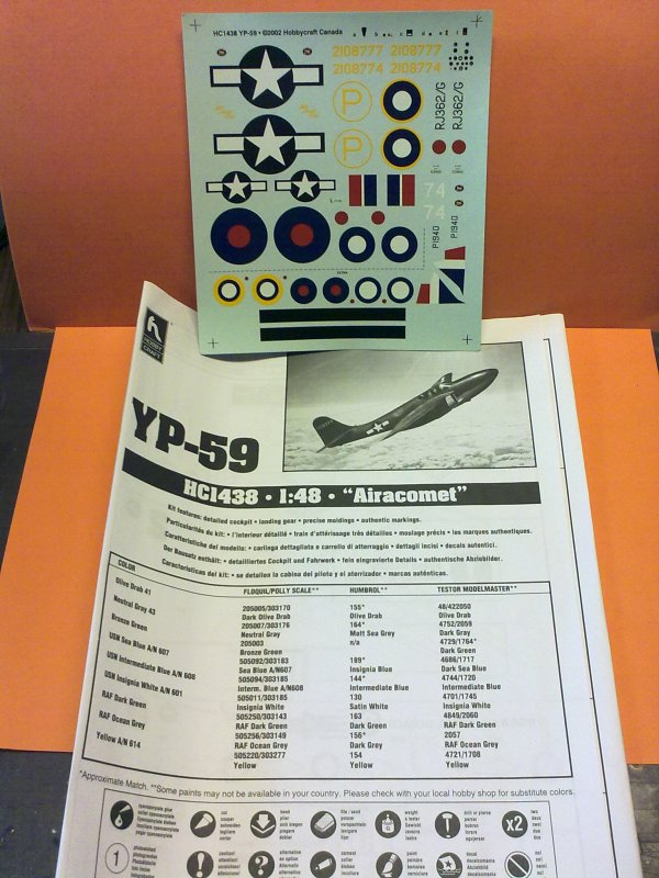 YP59 AIRACOMET US NAVY 1/48 001