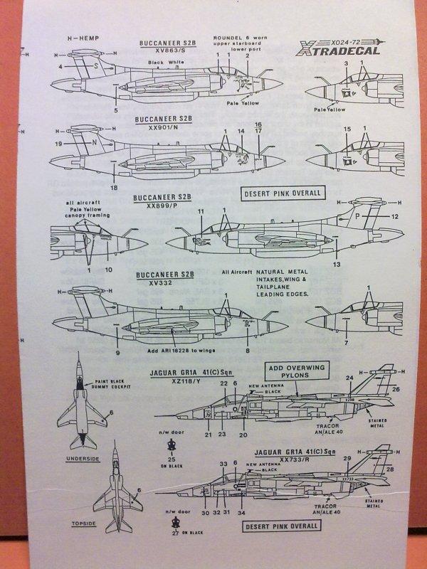 BUCCANEER RAF GOLFE 1991 1/72 001