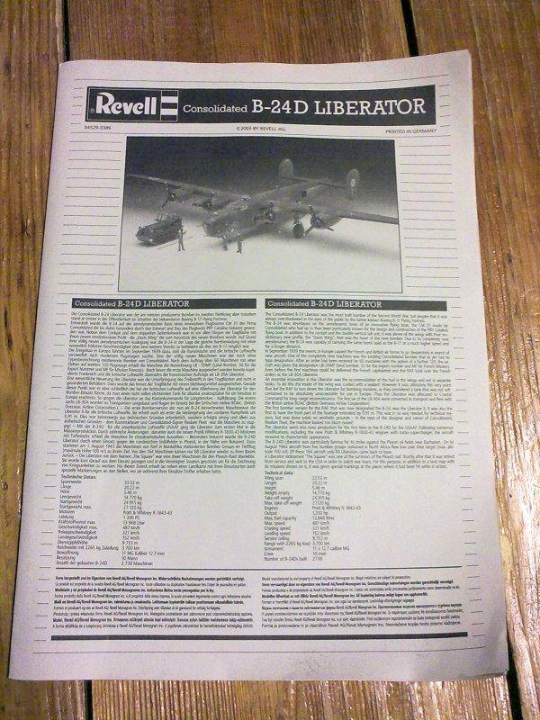 CONSOLIDATED B24D LIBERATOR PLOESTI 1/48 001