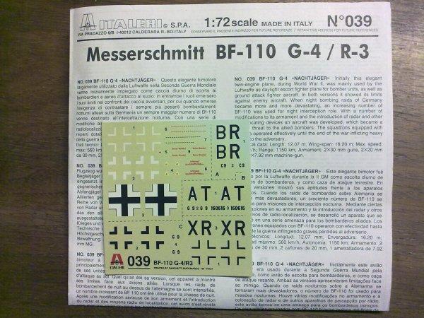 ME110 G4 HONGROIS AU 1/72 001
