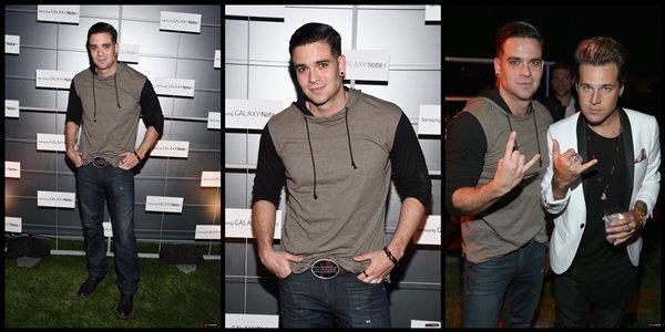 25 Octobre 2014 : Photos + Mark à la soirée de présentation du Samsung Galaxy Note 4