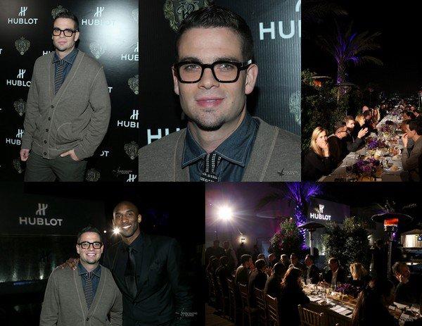 """29 Mars 2013 : Mark au """" Hublot inaugure ambassadeur de la marque Kobe Bryant """" + Tweets + Promo """" Glee """" 4x18"""