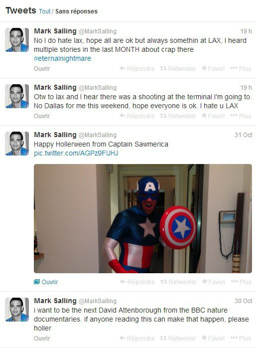 2 Novembre 2013 : Mark à Halloween + Tweets