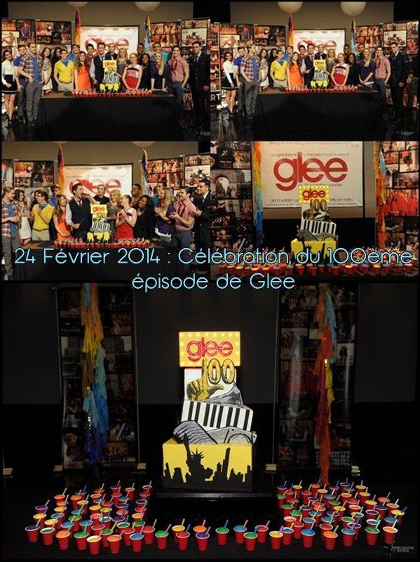 25 Février 2014 : Célébration du 100ème épisode de Glee + Photos Tweets + Tweets