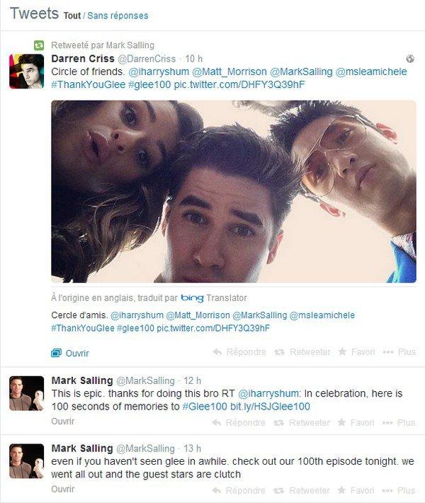 19 Mars 2014 : 100ème Episode 1st + Photos Tweets + Photos Instagram + Vidéo + Tweets