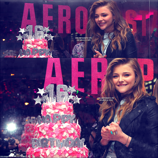 07 février 2013 : Chloë fête ses 16 ans au Aéropostale !