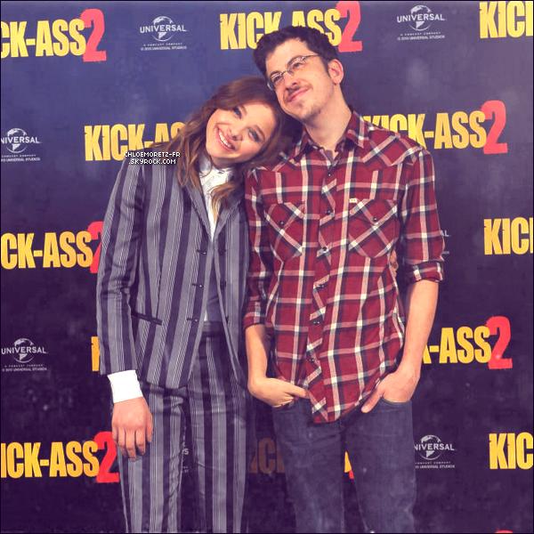 5 août 2013 : Chloë était au photocall de Kick-Ass 2 pour la promo du film
