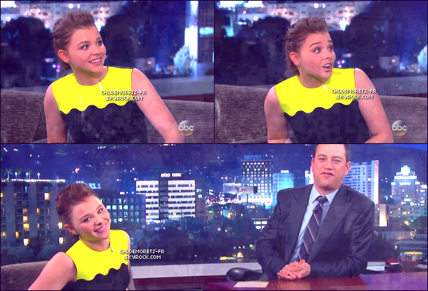 12\08\13 : La belle Chloë était au Jimmy Kimmel Live.