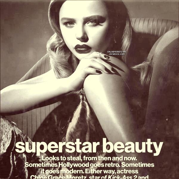 Mon photoshoot  préféré de Chloë, elle pose pour le magazine Glamour de septembre 2013.