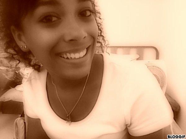 I smile...