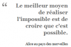 L'impossible possible