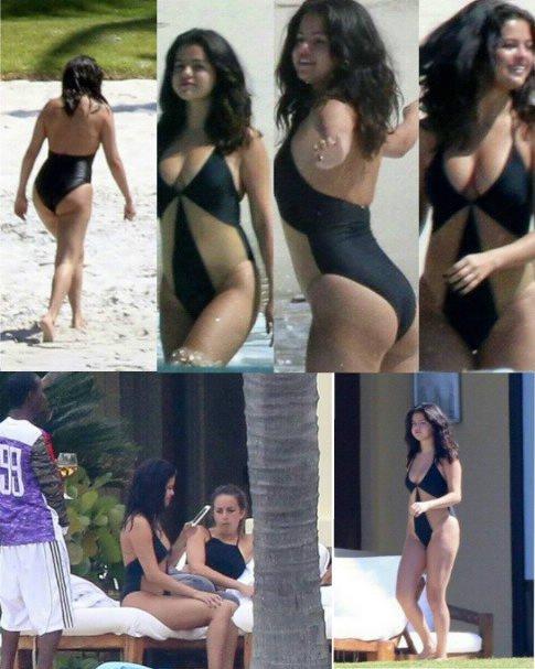 Selena ce trouve toujour sur la plage à puerto Vallarta ,  le jeudi 16 avril 2015