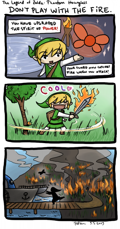Link et l'épée de feux