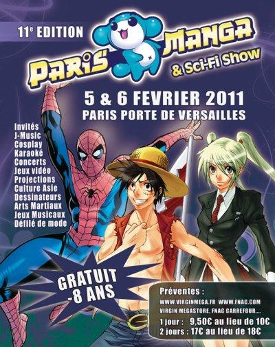le parc d'exposition de Versailles à Paris va accueillir les 5 et 6 février 2011 PARIS MANGA & SCI-FI SHOW
