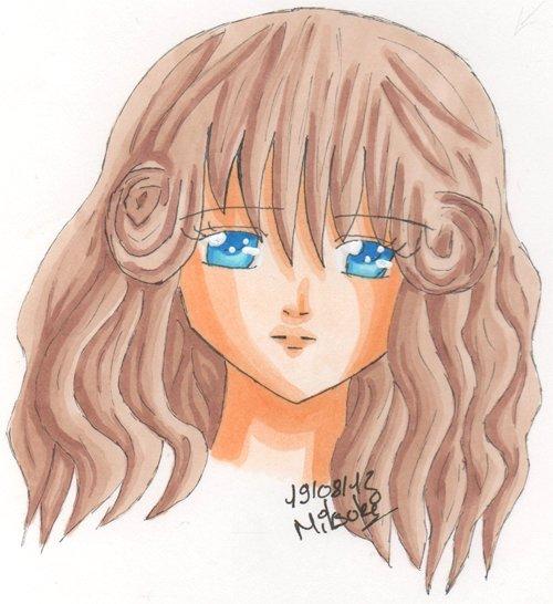 La fille aux macarons dans les cheveux :