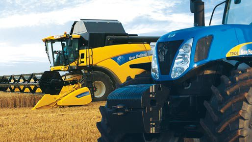 New Holland T7030 & CR 9080