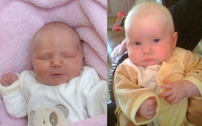 clara a sa naissance et 2mois et demi plus tard