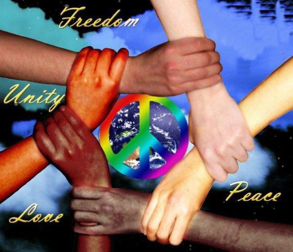 frères et soeurs du monde entier , peace and love