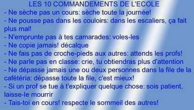 les 10 commandements !!!!