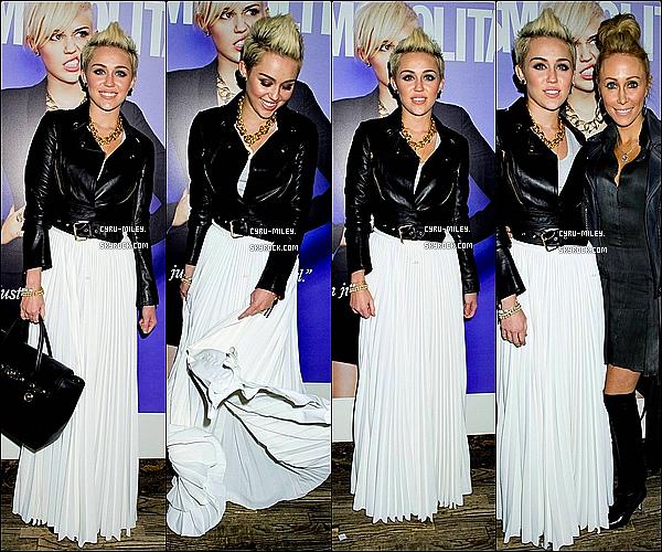 13/02/13  :  Miley s'est rendue à la fête donnée en son honneur par Cosmopolitan.