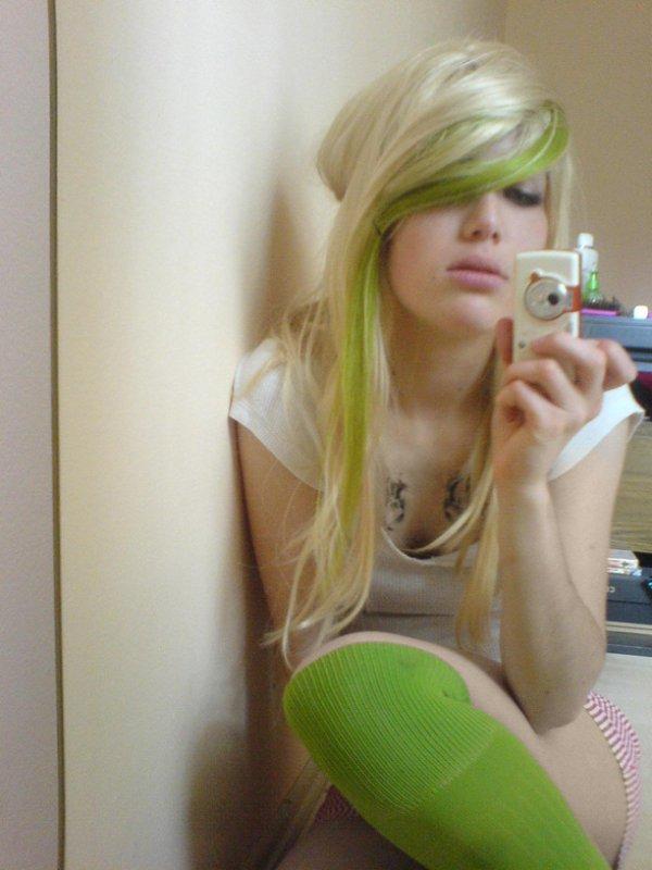 Emo blonde