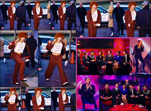 -10/12/2018- ─ Miley Cyrus a été aperçue, alors, qu'elle se promenait dans les rues de Weehawken dans le - New-Jersey !Miley était présente le 06/12 à l'émission « The Graham Norton Show » à Londres pour une performance ! Concernant ses tenues, c'est des beaux tops !