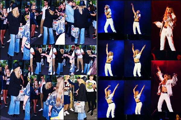 -31/05/2019- ─ Miley Cyrus a été photographiée alors qu'elle arrivait à l'aéroport : « Warsaw Airport » étant en Pologne !La belle chanteuse M. était en compagnie de son très cher mari : Liam Hemsworth, encore une fois. Le soir, elle a performer devant le public en Pologne.
