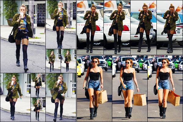 -07/02/2012- ─ Miley Cyrus a été photographiée, alors, qu'elle quittait un « Starbucks » avec Jen étant dans - Studio City.Miley a ensuite été photographiée arrivant au magasin « Target » à Los Angeles ! Deux jours après, Miley faisait du shopping à Melrose Avenue... Tops !