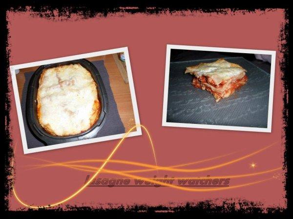lasagne express weight watchers
