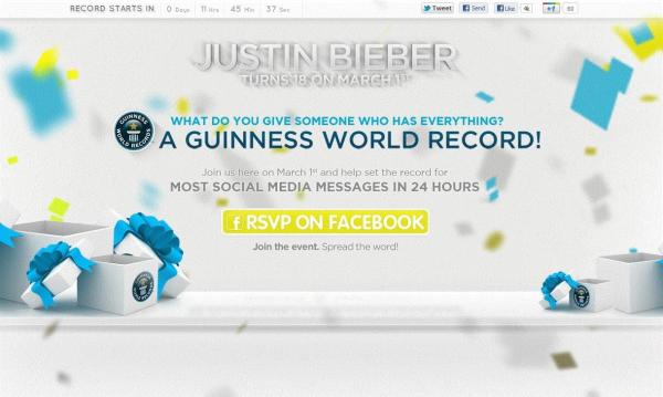 Justin Bieber : Un record du monde pour son anniversaire ?