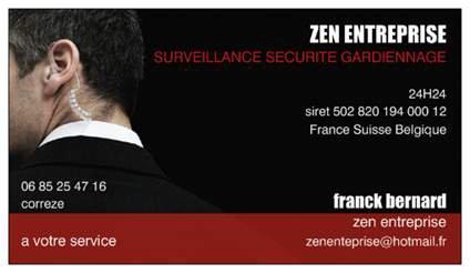 zen  sécurité gardiennage France portable 06 85 25 47 16
