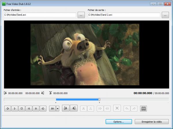 Monter une vidéo avec la nouvelle version de Free Video Dub par DVDVideoSoft