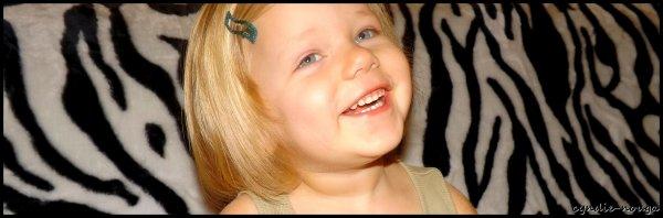Ma fille Agathe, 3 ans