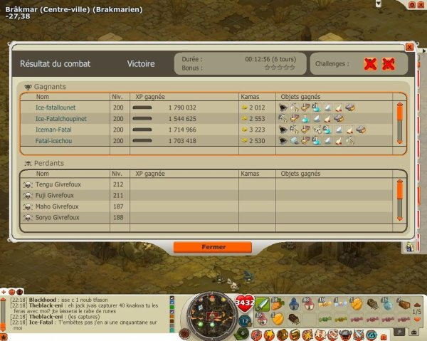 Quelques screens de plusieurs combats