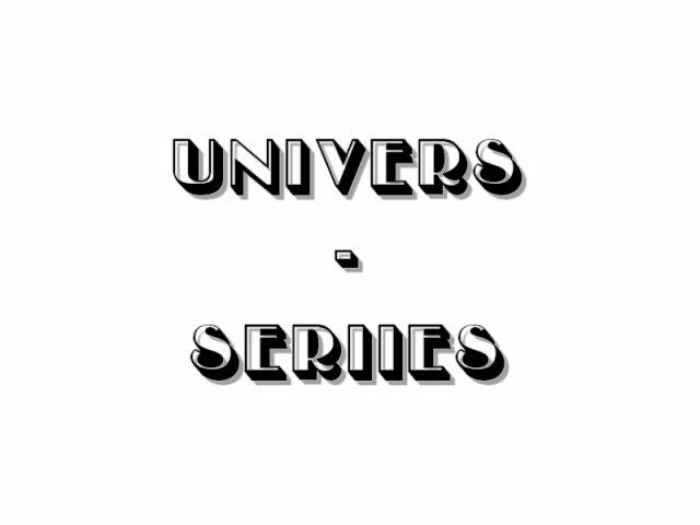 L'univers des séries