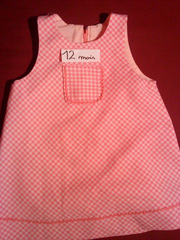 petite robe rose en 12mois 3euros frais de port compris
