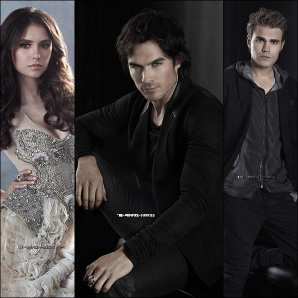 (Re)Découvrez un magnifique photoshoot promotionnelle de Vampire Diaries pour la Saison 3.