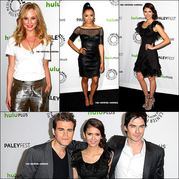 Le 03 Mars 2012, les acteurs de Vampire Diaries se sont rendus au Paley Festival !