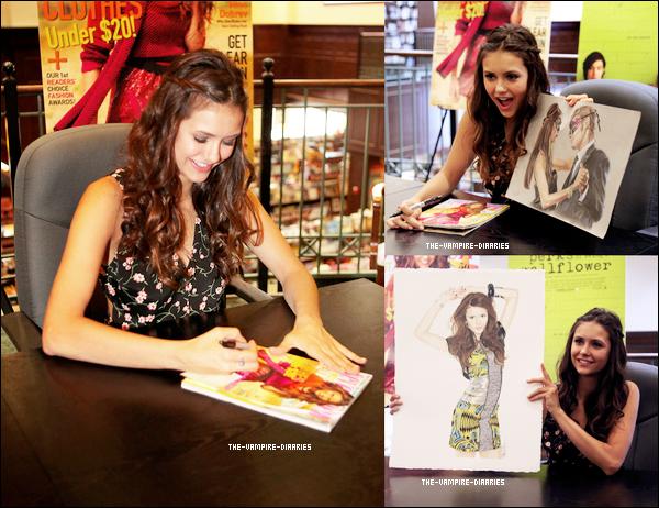 """Le 15 septembre 2012: Nina s'est rendue à Atlanta pour une séance de dédicaces organisée par le """"Seventeen Magazine Cover""""."""
