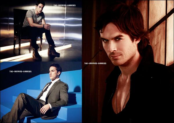 Découvrez le photoshoot/portrait des beaux Ian et Steven pour TV Guide Magazine réalise lors du Comic Con de 2012.