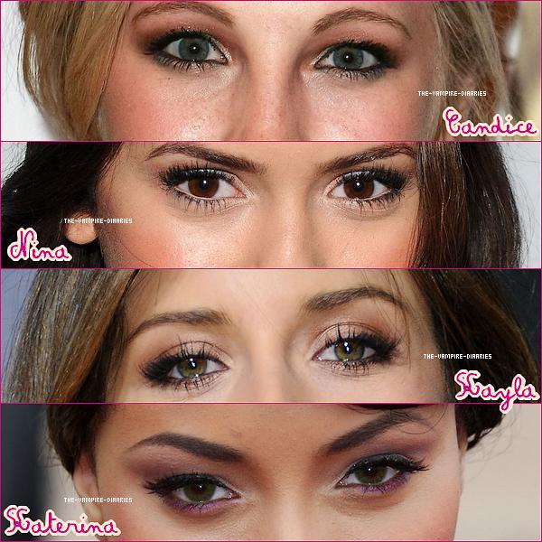 Selon-toi qui de nos quatre poupée préférée a les plus beaux yeux ?