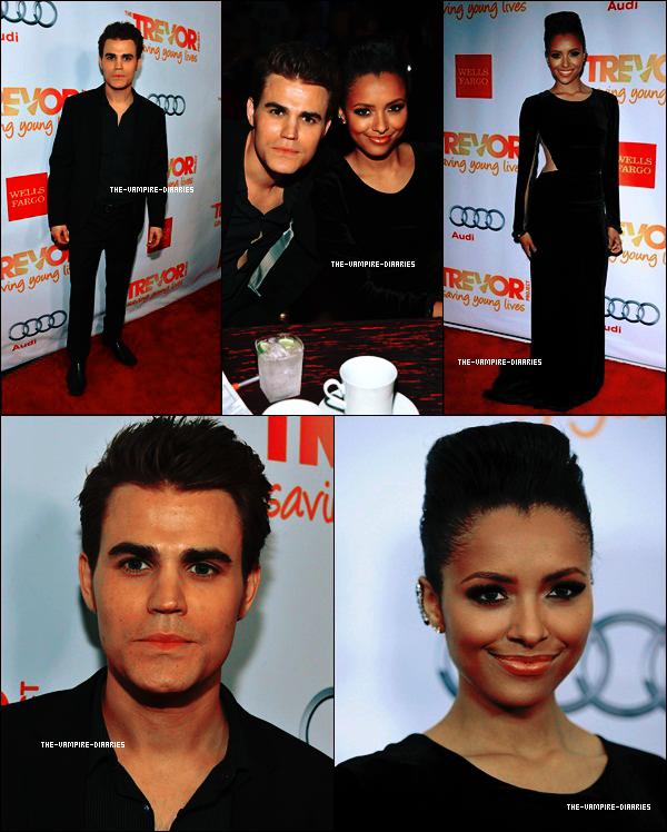 """Ce 02 décembre, notre jolie sorcière préféré Kat accompagné du magnifique Paul se sont rendus au """"Trevor Project 2012"""" !"""