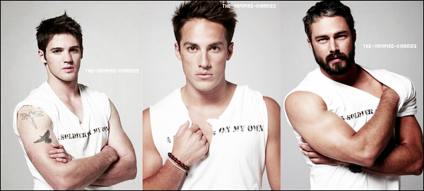 Découvrez de nouvelles photos des beaux Steven, Michael et Taylor Kinney (Mason dans TVD) pour Bullet Magazine.