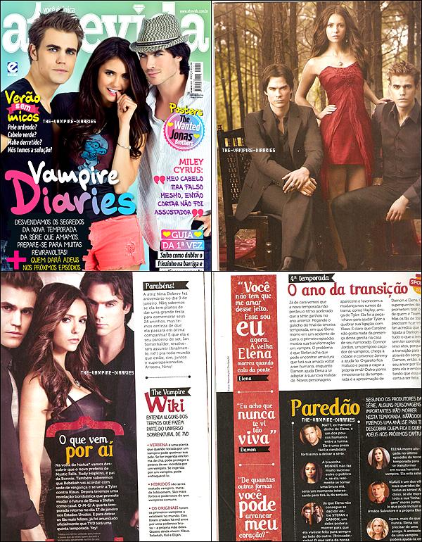 Découvrez les scans du magazine Atrevida avec Nina, Ian et Paul pour ce mois de Janvier !