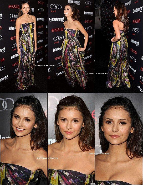 """Ce 26 janvier, Nina était présente à la soirée évènement """"Entertainment Weekly 2013"""""""