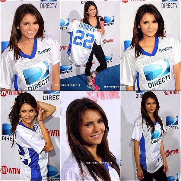 """Ce 02 février, Nina et Ian ont participé au """"7th Annual Celebrity Beach Bowl, organisé par DIRECT TV'S"""""""