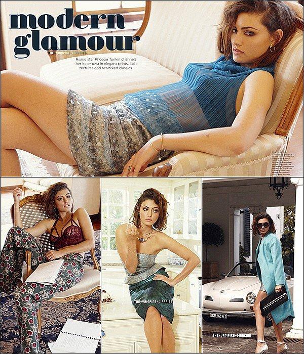 """Découvrez deux nouvelles photos de Phoebe pour le """"Zanita Morgan Magazine"""""""