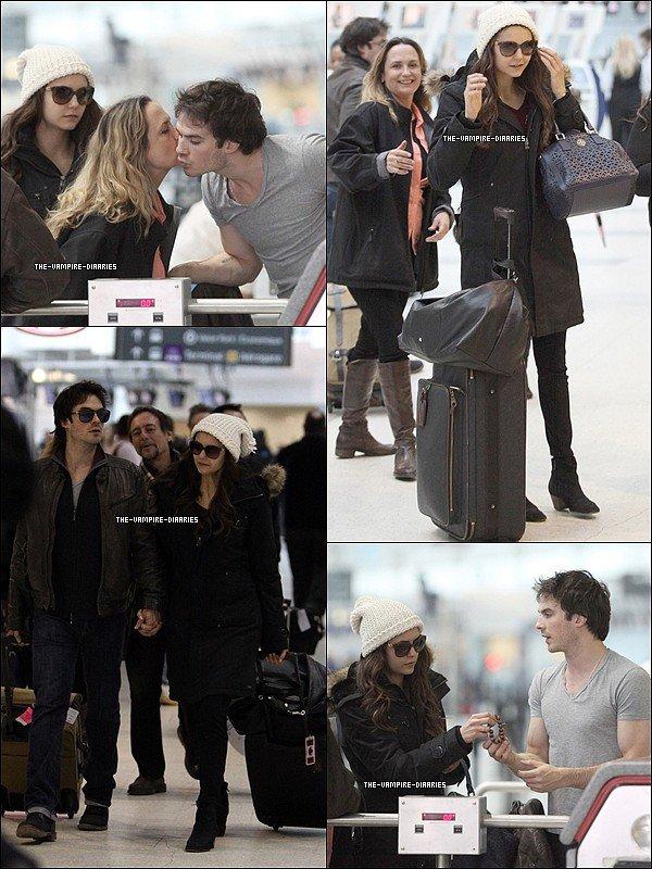 Ce 31 mars, le beau couple de Nina et Ian accompagnés de la mère de Nina, étaient à l'aéroport de Toronto pour quitter le Canada.