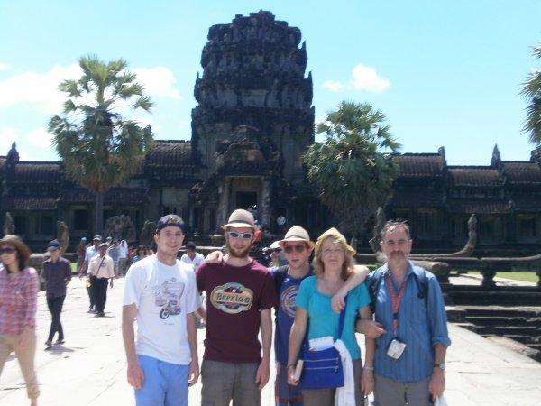 La famille Drugmand Au Cambodge